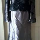 Frascara Beker Fashions Formal 2 Piece Maxi Skirt Ruffled Lace Jacket Womens 12