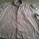 Firethorn Silver Men's full Button Up super soft Shirt 2XL XXL