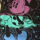 Disney Minnie Mouse Biederlack of America Vintage Plush Blanket 77x59 1980's USA