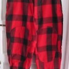 Woolrich Suspender Ready Lumberjack Plaid Heavyweight Wool Pants Knit Cuffs
