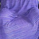 Hand Woven For Karavan 100% Cotton Twin Blanket Blue/Purple Stripes Pakistan