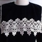 Gunne Sax Jessica McClintock Velvet Crochet Lace Yolk Modest Formal Dress sz 14