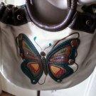 Relic Brand Butterfly Applique Woven Handbag Shoulder Cross Body Bag Purse