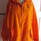 Vintage Womens North Country Cotton Hooded Packable Windbreaker Rain Jacket L