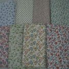 Vintage Lot Calico Cutter Remnant Quilting Fabric Material Crafters Doll Clothes