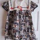 Vintage Rare Editions Yolk Neck Teddy Bear Embellished Patchwork Dress Girls 5 6