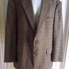 Polo Univ Ralph Lauren Mens Houndstooth Plaid Wool Blazer Sport Coat Jacket 40R
