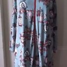 Vintage Womens Boutique New York Coach Signs Themed Pj's Night Gown Nightie S