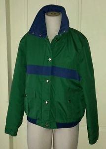 Vintage 80's Saxton Hall Winter Ski Snowboard Parka Jacket Womens M Green Navy