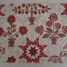 Quaker Downhome Berry Fabric Sample Tapestry Folk Art Country Primitive Crafts