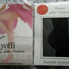 NOS Yoffi Top Fashion Shimmy Glitter Pantyhose Style No 985 One Size Fits 5-5 10