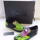 Iron Fist Zombie Chomper Slip On Loafers Sneakers Shoes Womens 7 Monster Green