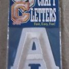 "Letter A Iron Stick On Paintable Embroidered Craft Letters Joy S.A. USA 2"" Tall"