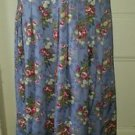 Vintage Orvis Long Floral Pleated Maxi Modest Prairie Boho Skirt Womens size 10