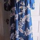 Vintage Royal Palm Hawaii Maxi Muu Muu Hawaiian Barkcloth Dress Womens OS