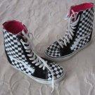 Vans Off The Wall Black & White Checkered Hi Tops Sk8 Skateboarding Shoes Mens 7