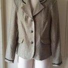 Vintage NOS Gotcha Covered Trimmed Houndstooth blazer Jacket Womens 10 USA 46319