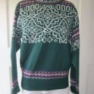 Vintage Meister 100% New Wool Knit Fair Isle Nordic Apres Ski SWEATER mens M