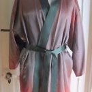 Vintage Handmade Mens Silk Satin Smoking Jacket Coat Robe Dressing Gown Sash M
