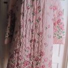 Vintage Beco Original Quilted Bath Robe Housedress Womens XXXL Pink Rose Floral