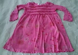 Girls Fresh Produce brand 100% cotton dress size 4 Long Sleeves flowers circles