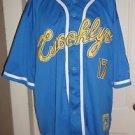 Mens Raw Blue Vintage Classics First Team Apparel Brooklyn #17 Jersey Shirt 2XL