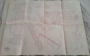 Vtg Artex Paint/Embroidery Transfer Pattern Iron On Monogram Designs 0236 beer
