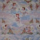 Little Lil Angles Print Concepts Novelty Christmas Religion Cotton Fabric 2 + yd