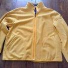 Mens LL Bean Full Zip Reversible Soft Fleece Jacket Blue Yellow L