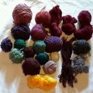 Lot of 100% Wool Yarn Balls/Skeins Various Colors Crafts