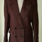 Vintage Boutique Guy Laroche Paris Plaid Sparkly blazer Jacket 8/36 Gold Brown