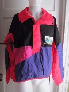 Mens Vintage 80s 90s Fera Edge Skiwear Anorak Pullover Shell Ski Jacket Coat M