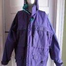 LL Bean Goretex All Weather Lined Windbreaker Storm Rain Jacket Coat Mens L Hood