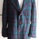 Authentic Imported Scottish Tartan Plaid 100% Wool Sport Coat Jacket Blazer L 42