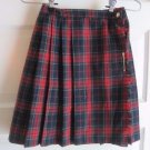 Imp Girls Vintage Tartan Plaid Flat Front Pinned Pleated Kilt Wrap Skirt Girls 7