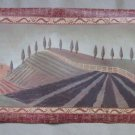 Folk Art Country Rolling Hills Landscape Manor House Wallpaper Border GC2041B