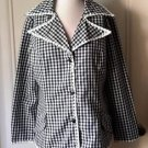 Vintage Coco California Gingham checkered Daisy Lace Trim Jacket Blazer sz 8/10
