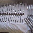SSS By Oneida 48 piece Lot Stainless Silverware Flatware Yankee Clipper Pattern