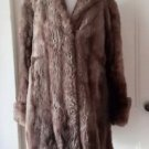 Vintage 40's 50's Faux Fur Boutique Custom Made Dress Coat Womens medium brown