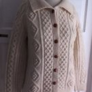 D. McCarthy Outfitter Wool Chunky Cable Knit Fisherman Cardigan Sweater Jacket S