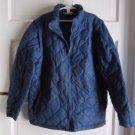 Girls Lands End Kids 2 in 1 Quilted Down Winter Parka Ski Jacket Vest M 10 12
