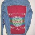 Pendleton High Grade Western Wear Anniv Indian Blanket Denim Jean Jacket Mens XS