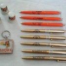 VTG Florida Souvenir Momentos Keychain Pens Porcelain Thimbles Sunshine State