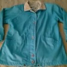 Womens London Fog Towne cotton full zip up basic Jacket size Small Bright Blue