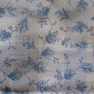 Vintage 70s Cotton Country Blue Plaid Flowers Quilting Fabric Material Crafts