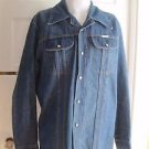 Mid Century Do Nothing by Sedgefield Denim Jean Shirt Jacket Mens L Rockabilly