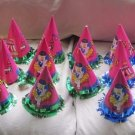 Vintage Circus Clown Happy Birthday Party Paper Cone Hats Pink Lot of 27 Bozo