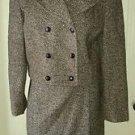 Vintage 80's Campagnie Internationale Express Herringbone Tweed Velvet Suit S 7