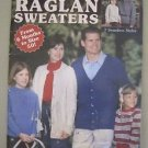 Complete Book of Raglan Sweaters Knitting Manual Knit Patterns Vintage Size 6 50