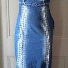 Euroxygene Denim Jean Wiggle Pencil Bodycon Faded Distressed Frayed dress size 1